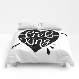 Liebling Calligraphy - White Comforters