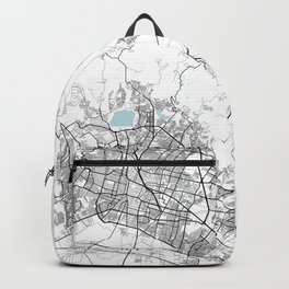 León City Map of Mexico - Circle Backpack