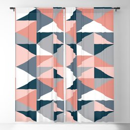 Triangles pattern Blackout Curtain