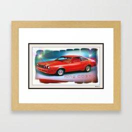 Mustang King Cobra Framed Art Print