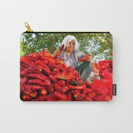 Turkish Woman Preparing Red Peppers Carry-All Pouch
