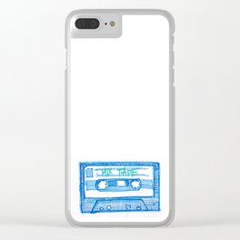 MIX TAPE Clear iPhone Case