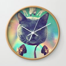 galactic Cats Saga 3 Wall Clock