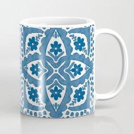 Indigo Blue Folk Art Dutch Delft Coffee Mug
