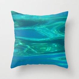 Below the surface - underwater picture - Water design Throw Pillow