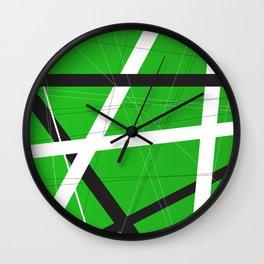 Green Criss Cross Background Wall Clock