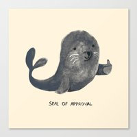 seal Canvas Prints featuring Seal Of Approval by Picomodi