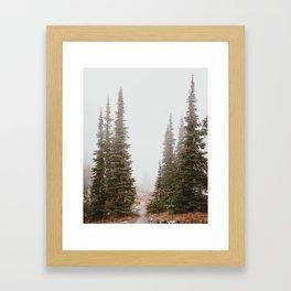 Morning Fog at the Granite Chalet Framed Art Print