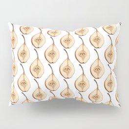 Shout Out to All the Pear on White Pillow Sham