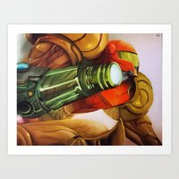 metroid Art Prints featuring Metroid by JeyJey Artworks