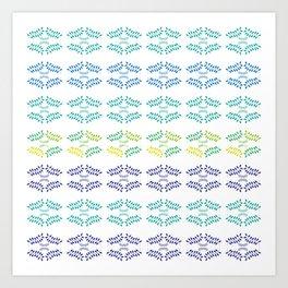 ORGANIC & NATURE (BLUES) Art Print