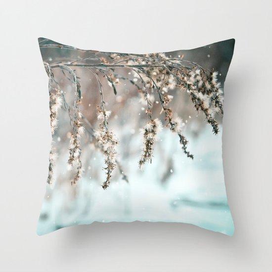Delicate Balance Throw Pillow