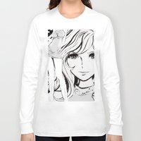 sketch Long Sleeve T-shirts featuring SKETCH by Chandelina