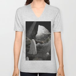 The Caves are Haunted Unisex V-Neck