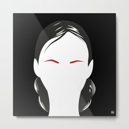 InexpressiveEyebrows/ Metal Print