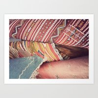 moroccan Art Prints featuring Moroccan by Paint Pattern Photo