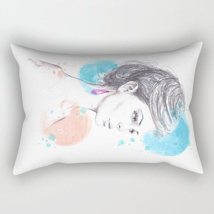 Earring Rectangular Pillow