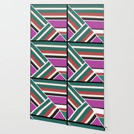 Geometric pattern, Striped triangles 2 Wallpaper