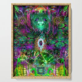 Party Outside The Box (psychedelic, visionary) Serving Tray