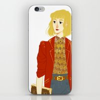 enjolras iPhone & iPod Skins featuring GENDERBENT : ENJOLRAS by Cy-lindric