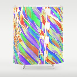 Light Dance Carnival Ribs edit 2 Shower Curtain