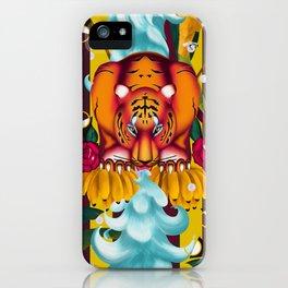 Maximalist tiger dream iPhone Case