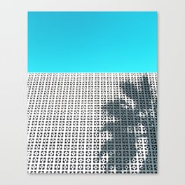 Parker Palm Springs with Palm Tree Shadow Canvas Print