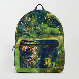 "Claude Monet ""Water lily pond at Giverny"", 1919 Backpack"