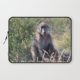 """""""Hey, whassup,"""" said the Baboon Laptop Sleeve"""