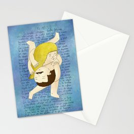 El Abrazo / The hug Stationery Cards