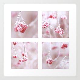 Red Berries Quadro Art Print
