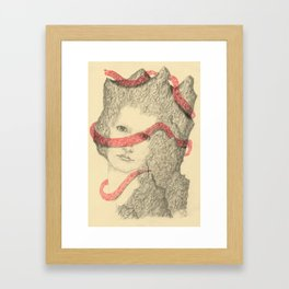 Mountains and Me Framed Art Print