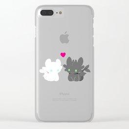 Light Fury & Night Fury LOVE Clear iPhone Case