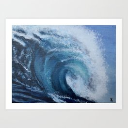 Rolling Waves Art Print
