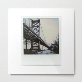 Ben Franklin Bridge Polaroid Metal Print