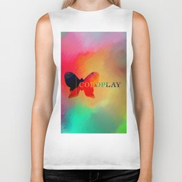 Colourful Butterfly Cold Play Biker Tank