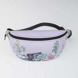 Desert Gemstone Oasis Light Purple Fanny Pack