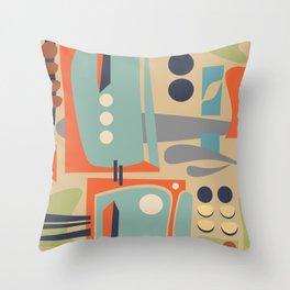 Mid Century Orange Throw Pillow