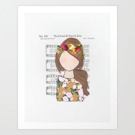 'Tis So Sweet - Brunette Art Print