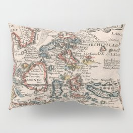 Vintage Map of Indonesia and The Philippines (1659) Pillow Sham