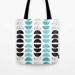 Marble Half-Moons in Tiffany Blue Tote Bag