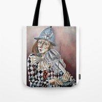 clown Tote Bags featuring Clown by SilviaGancheva