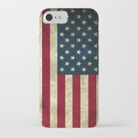 american flag iPhone & iPod Cases featuring American Flag  by  Can Encin