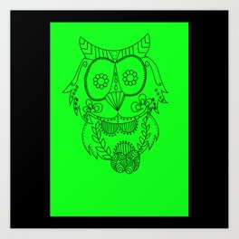 Owl of the Day Art Print
