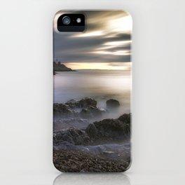 Bracelet Bay and Mumbles lighthouse iPhone Case