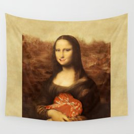 Mona Lisa Loves Valentine's Candy Wall Tapestry