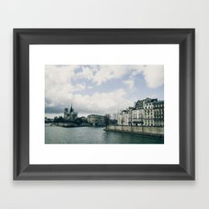 And the river flows Framed Art Print