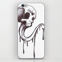 Skull sketch iPhone Skin