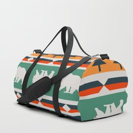 Winter bears and trees Duffle Bag