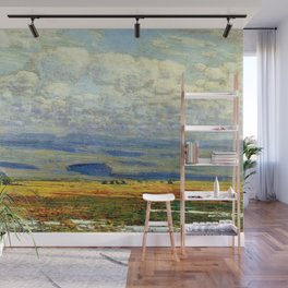 Classical Masterpiece 'Oregon Landscape' by Frederick Childe Hassam Wall Mural